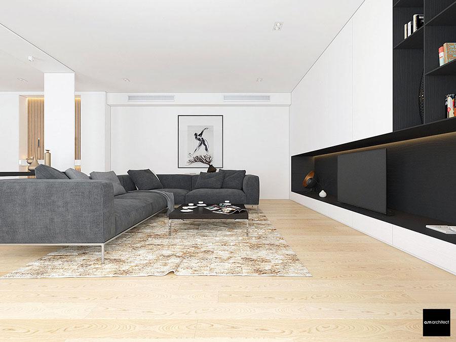 Idee di arredamento per un soggiorno minimal n.15