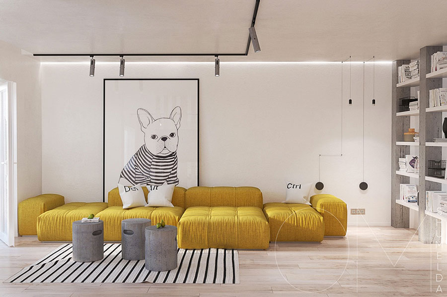 Arredamento per soggiorno minimal chic 1