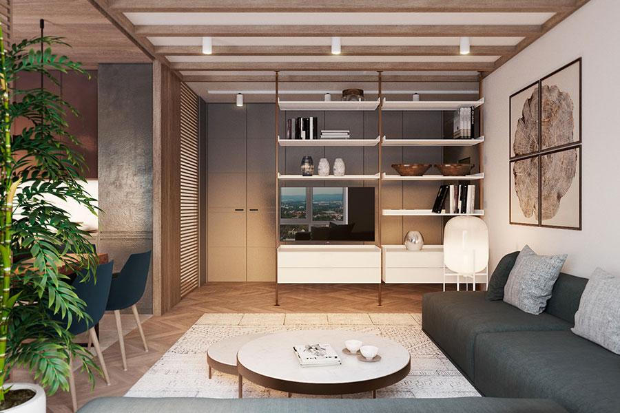 Arredamento per soggiorno minimal chic 2