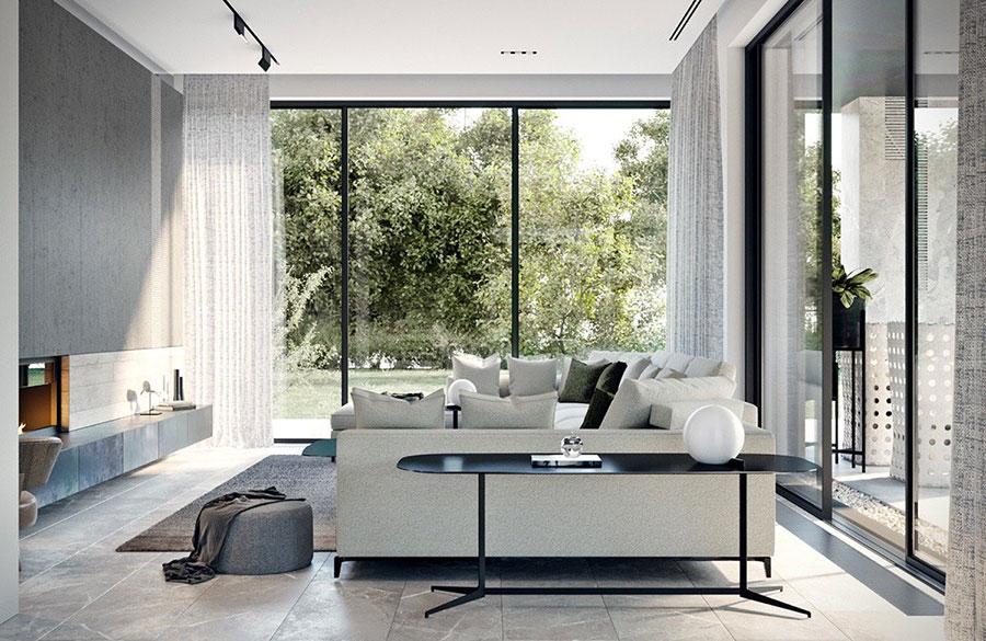 Arredamento minimal chic tante idee per una casa dal for Parete soggiorno minimal
