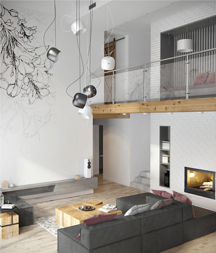 Arredamento per soggiorno minimal chic 6