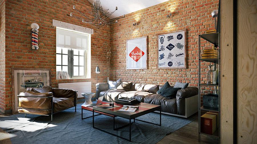Idee per arredare il soggiorno in stile industriale n.05