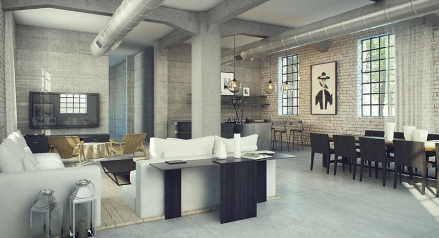 Idee per arredare il soggiorno in stile industriale n.08