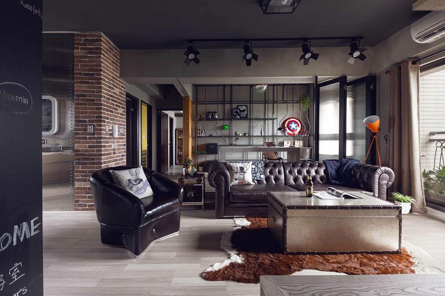 Idee per arredare il soggiorno in stile industriale n.11