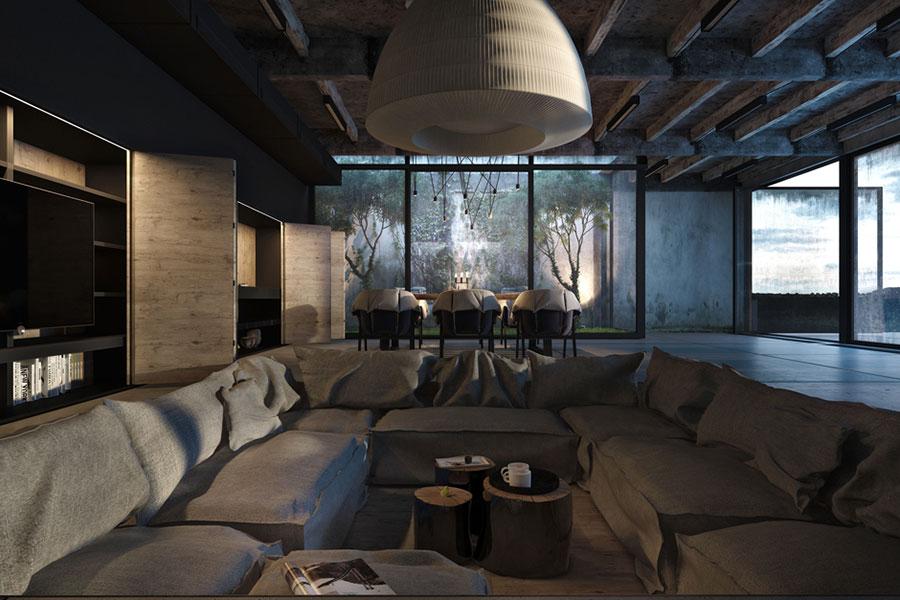 Idee per arredare il soggiorno in stile industriale n.12