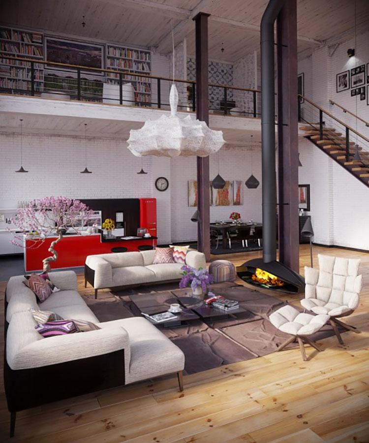 Idee per arredare il soggiorno in stile industriale n.13