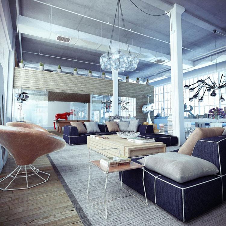 Idee per arredare il soggiorno in stile industriale n.15