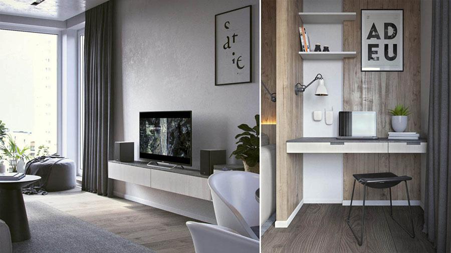 Bien connu Come Arredare una Casa di 70 Mq: ecco 3 Progetti Sorprendenti  VE76