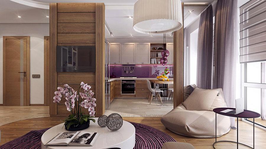 Progetto di arredo per una casa di 70 mq n.21