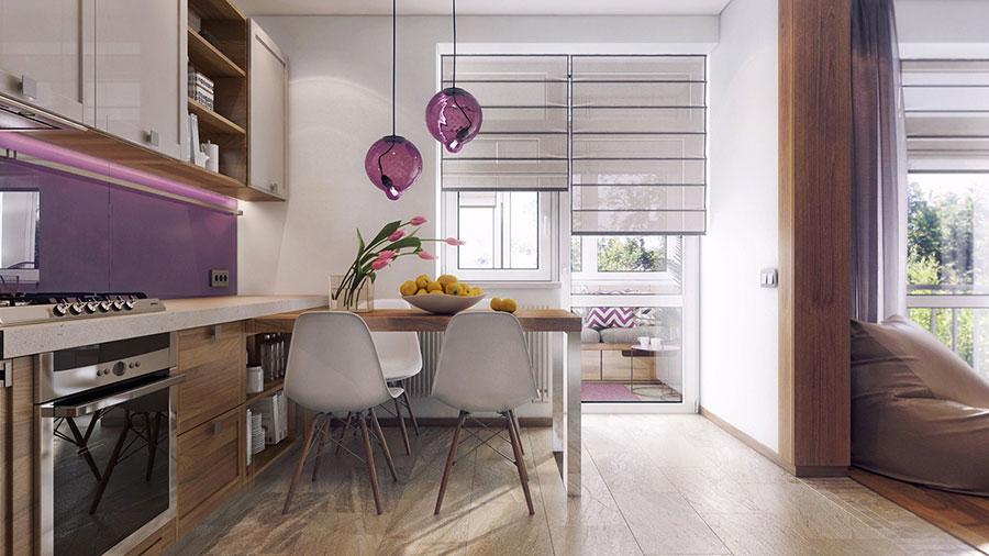 Progetto di arredo per una casa di 70 mq n.24