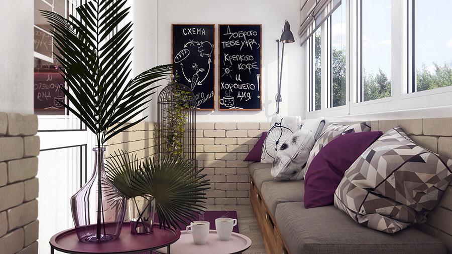 Progetto di arredo per una casa di 70 mq n.26