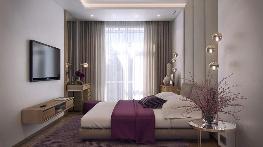 Idee per arredare una camera da letto beige n.20