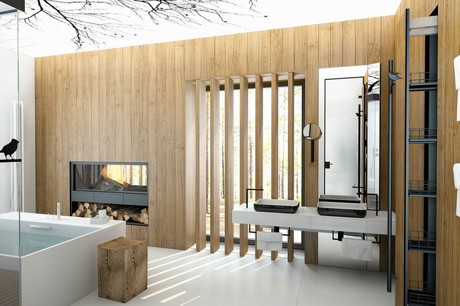 Bagno di lusso moderno dal design unico n.01