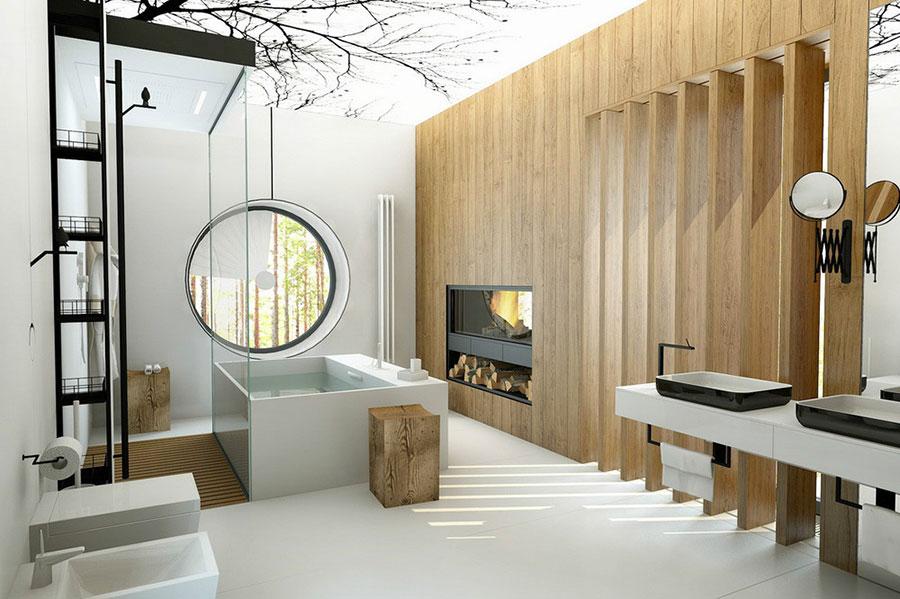 Bagno di lusso moderno dal design unico n.02