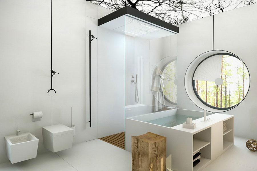 Bagno di lusso moderno dal design unico n.03