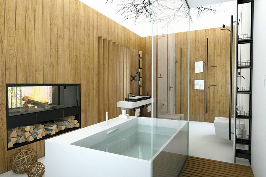 Bagno di lusso moderno dal design unico n.04