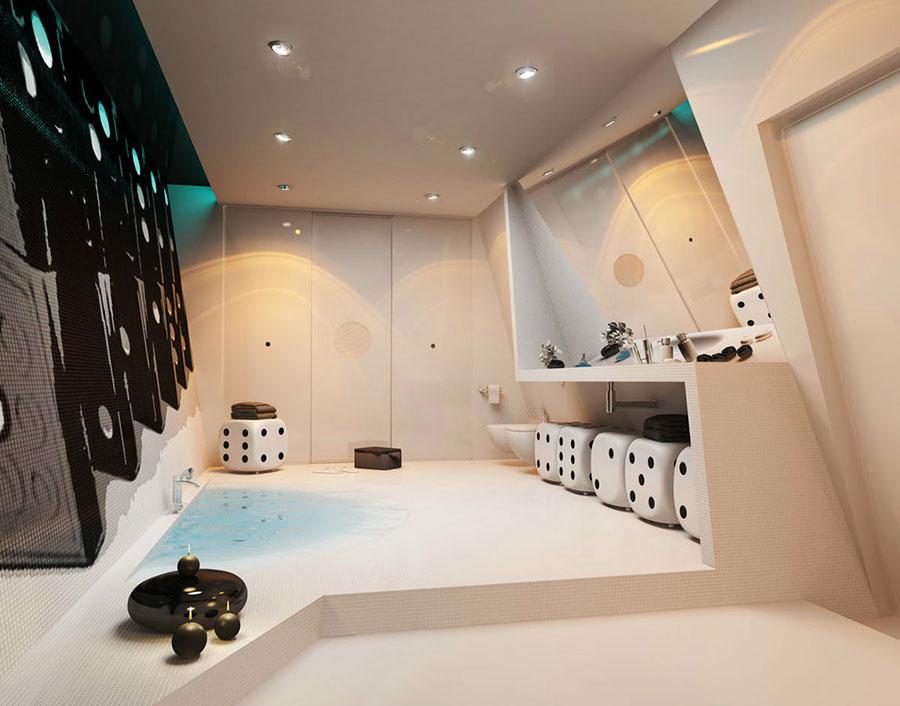 Bagno di lusso moderno dal design unico n.05