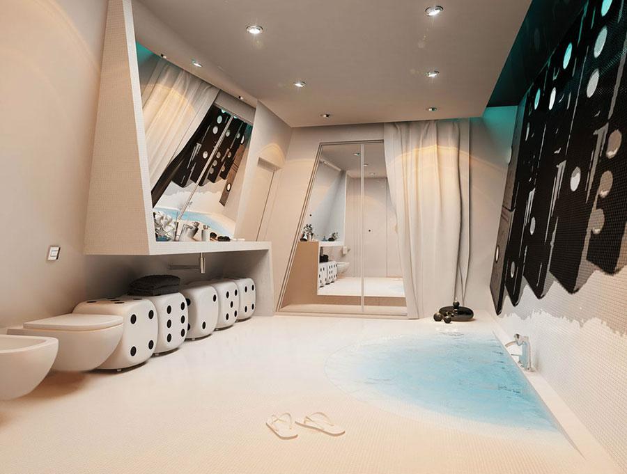 Bagno di lusso moderno dal design unico n.07