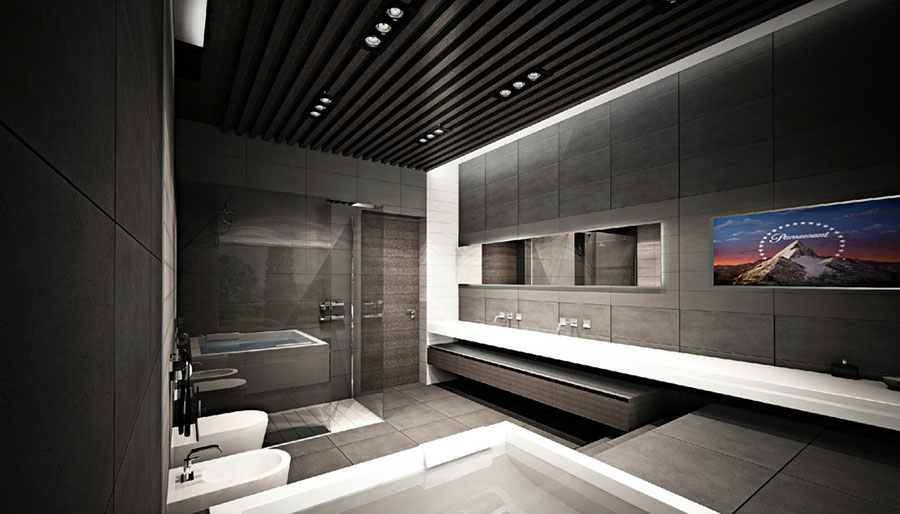 Bagno di lusso moderno dal design unico n.08