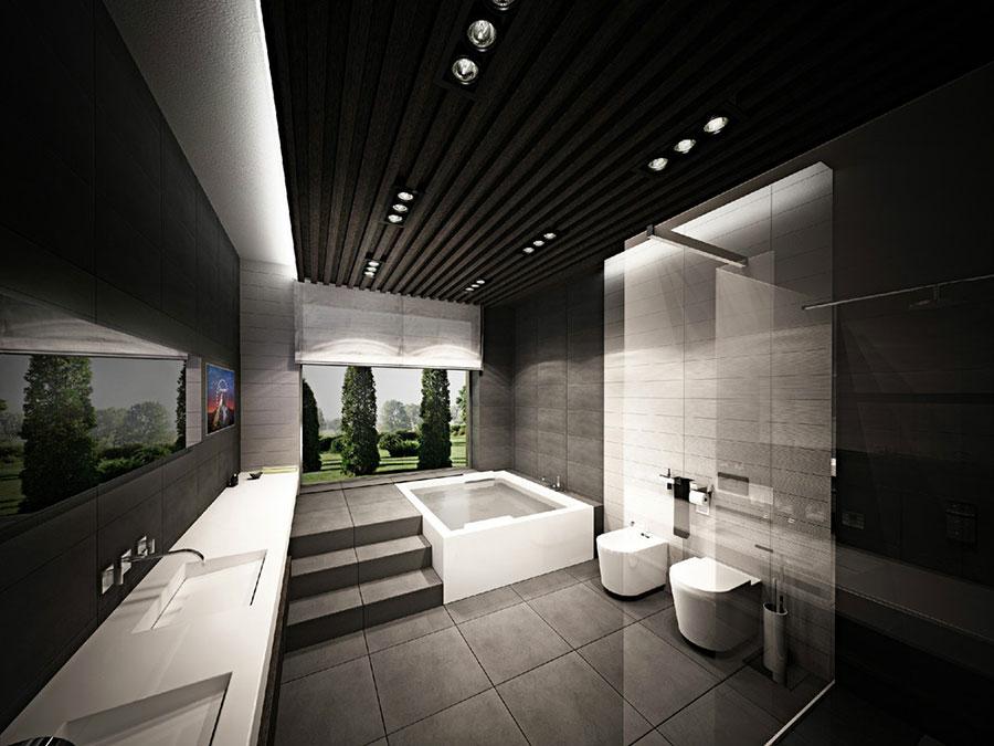 Bagno di lusso moderno dal design unico n.09