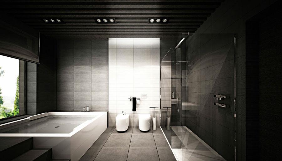 bagni moderni di lusso. bagno moderno in un hotel o un condominio ... - Bagni Lussuosi Moderni