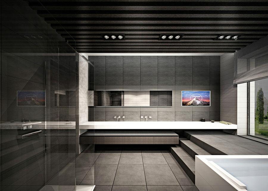 Bagno di lusso moderno dal design unico n.11