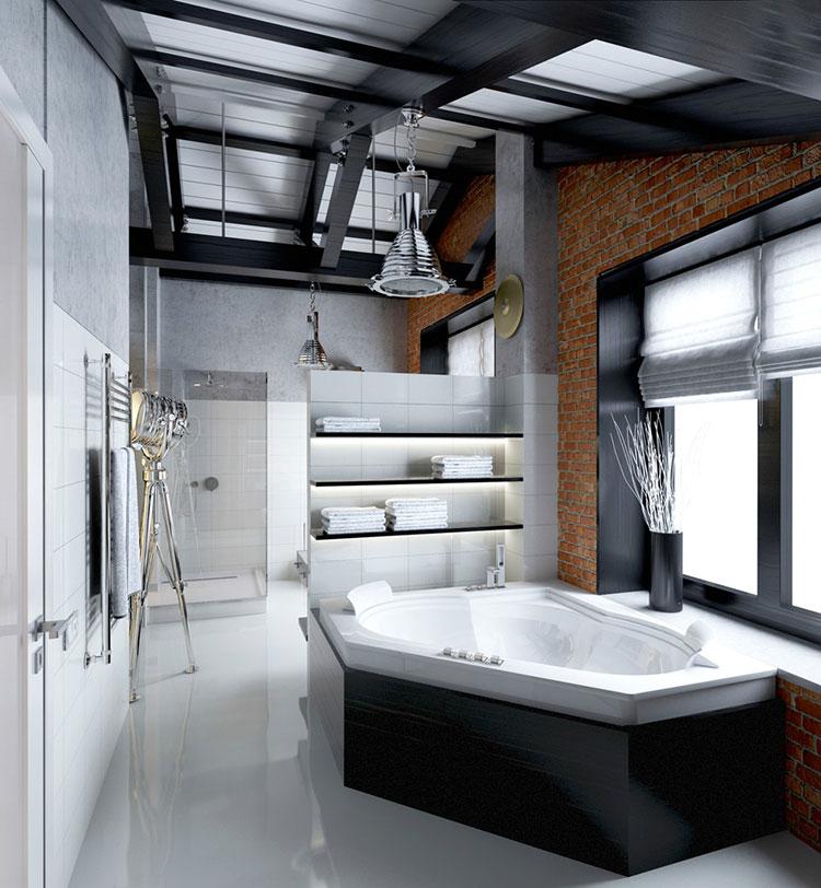 Bagno di lusso moderno dal design unico n.13