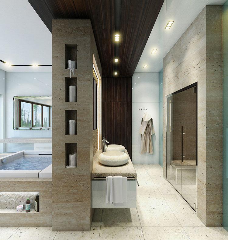 Bagno di lusso moderno dal design unico n.15