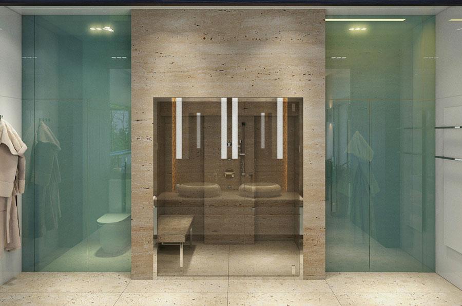 Bagno di lusso moderno dal design unico n.16