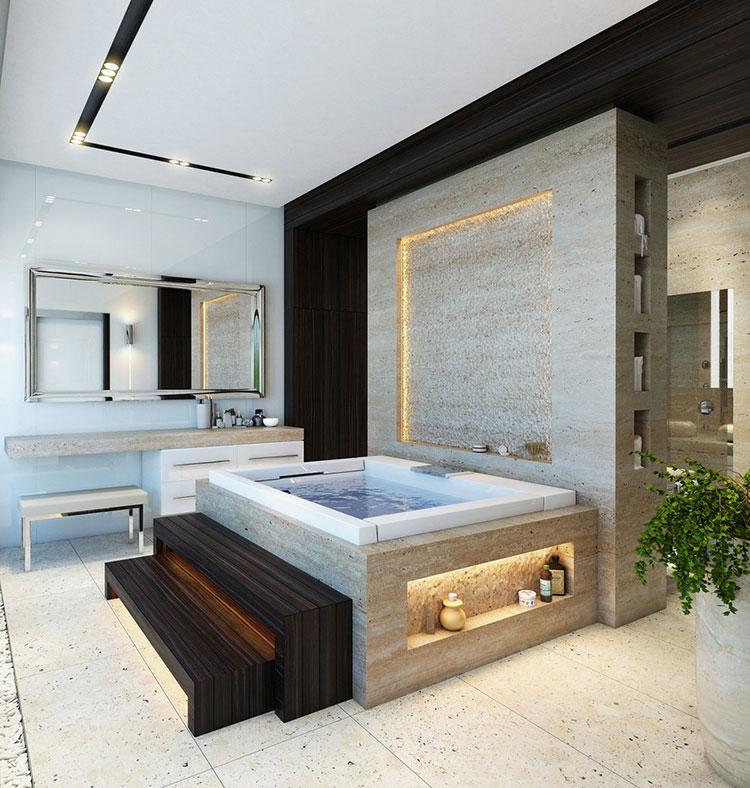 Bagno di lusso moderno dal design unico n.17