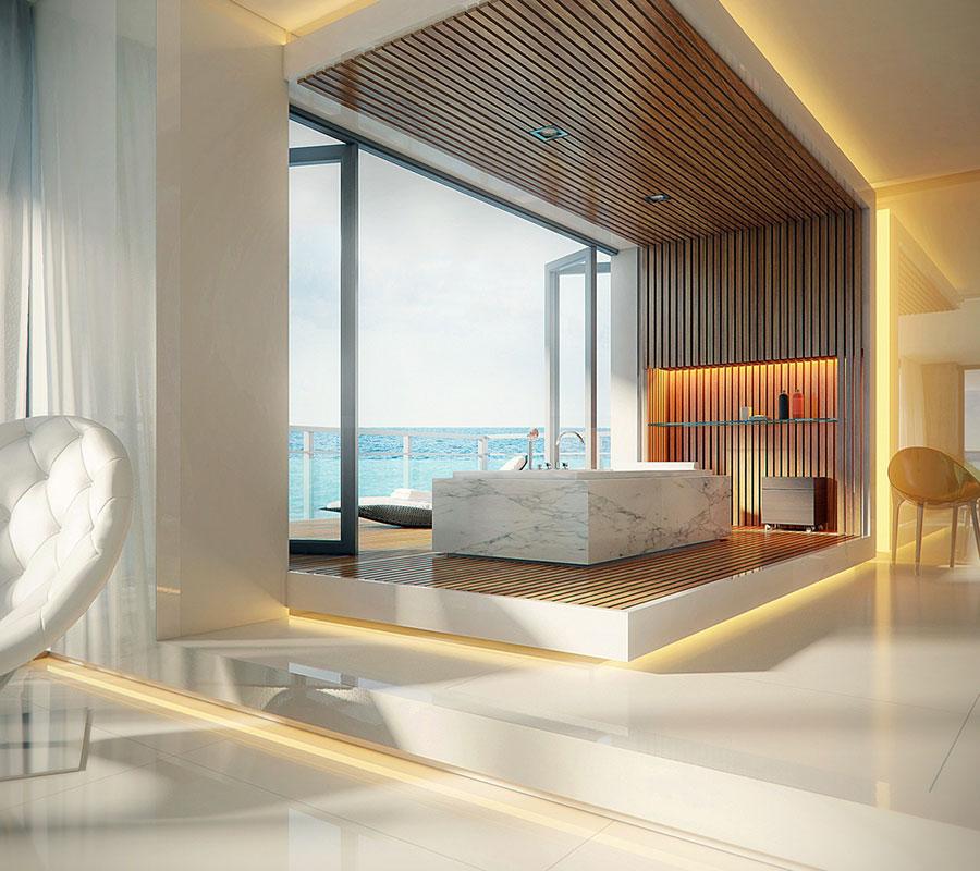 Bagno di lusso moderno dal design unico n.21