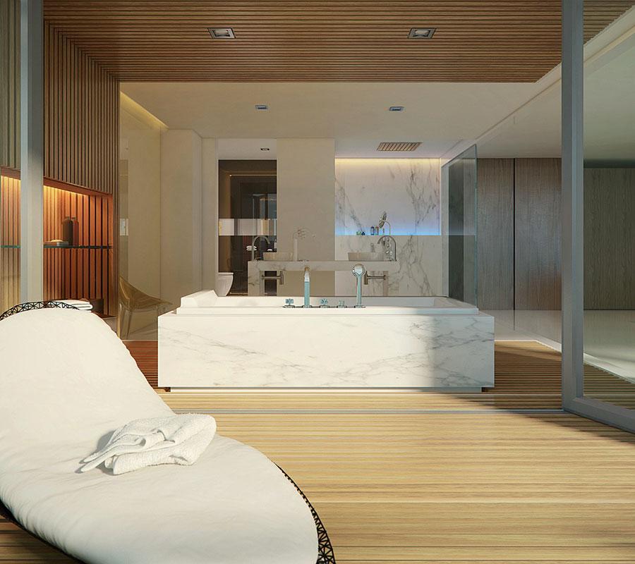Bagno di lusso moderno dal design unico n.22