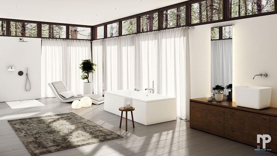 Bagno di lusso moderno dal design unico n.26