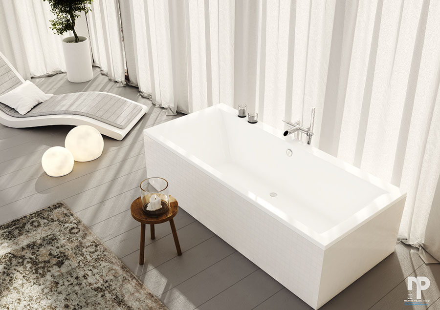 Bagno di lusso moderno dal design unico n.27