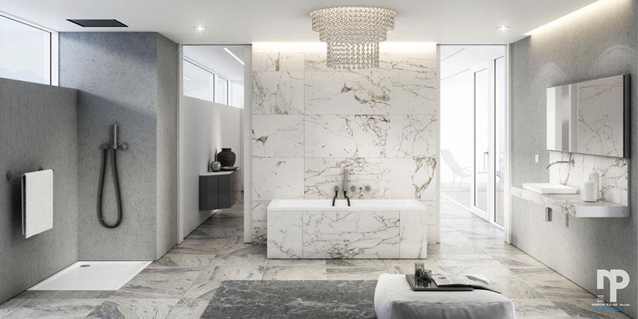 Bagno di lusso moderno dal design unico n.28