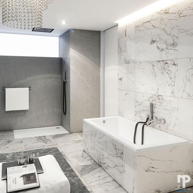 Bagno di lusso moderno dal design unico n.29