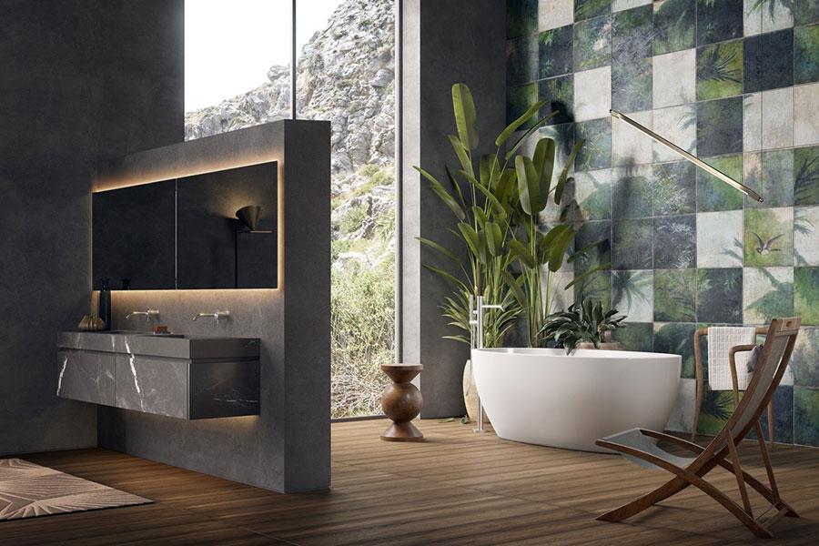 Bagno di lusso moderno dal design unico n.31