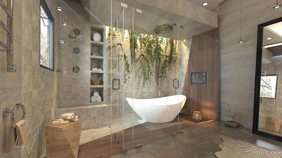 Bagno di lusso moderno dal design unico n.32