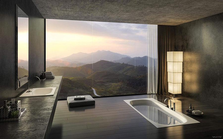 Bagno di lusso moderno dal design unico n.34