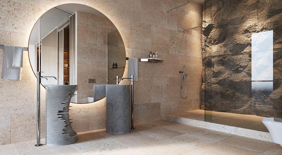 Bagno di lusso moderno dal design unico n.36