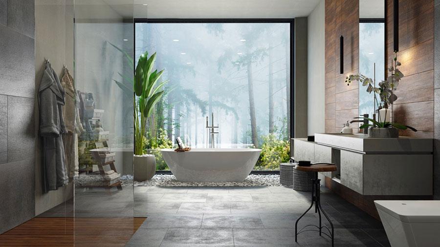 Bagno di lusso moderno dal design unico n.37