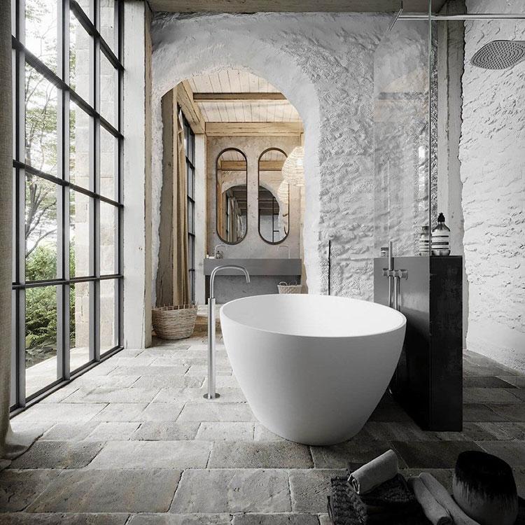 Bagno di lusso moderno dal design unico n.39
