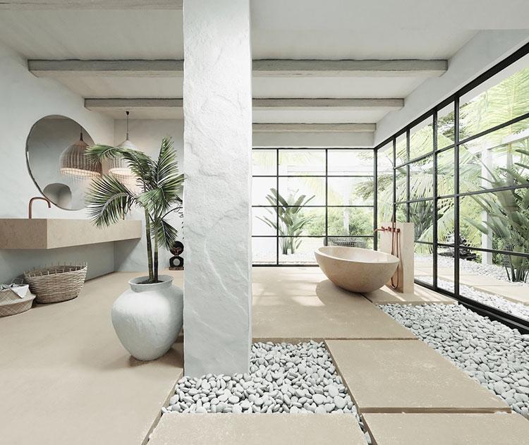 Bagno di lusso moderno dal design unico n.40