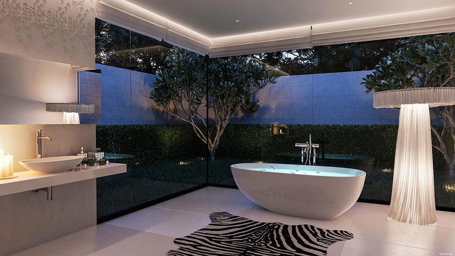 Bagno di lusso moderno dal design unico n.42