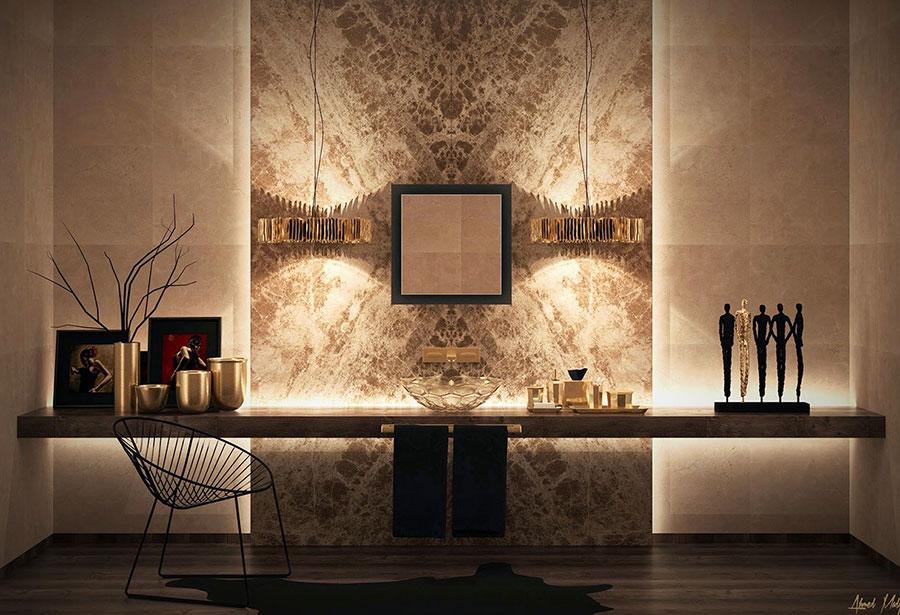 Bagno di lusso moderno dal design unico n.43
