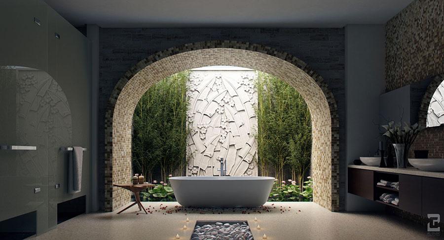 Bagno di lusso moderno dal design unico n.44