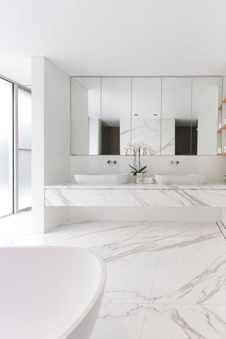 Bagni Moderni In Marmo.Bagni In Marmo Bianco 20 Idee Per Arredi Di Lusso Mondodesign It