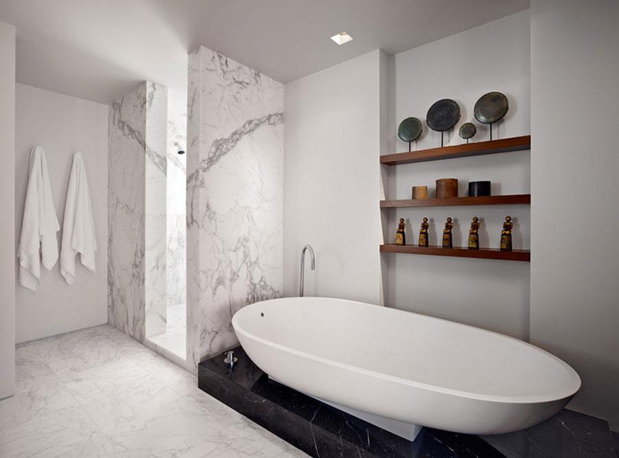 Bagno di lusso in marmo bianco n.08
