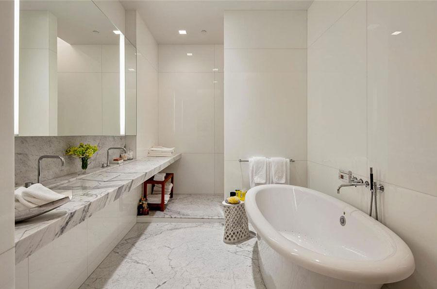 Bagno di lusso in marmo bianco n.16