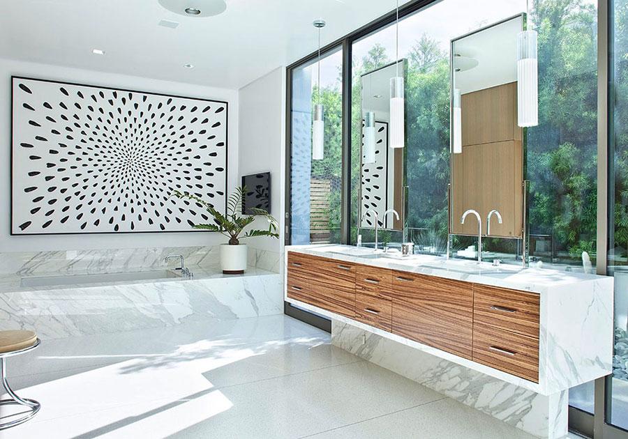 Bagno di lusso in marmo bianco n.18
